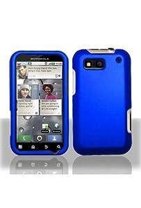 Motorola MB525 DEFY Rubberized Shield Hard Case - Blue