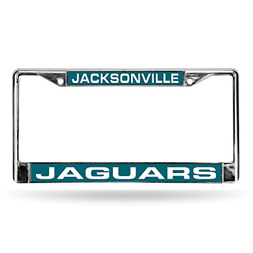 Jacksonville Jaguars Silver Glitter Metal Frame