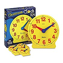 Learning Resources® Classroom Clock Kit CLOCK,CLASSROOM KIT (Pack of 2)