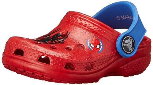 crocs Kids' Classic Spider-Man Clog (Infant/Toddler/Little Kid),Red,6 M US Toddler