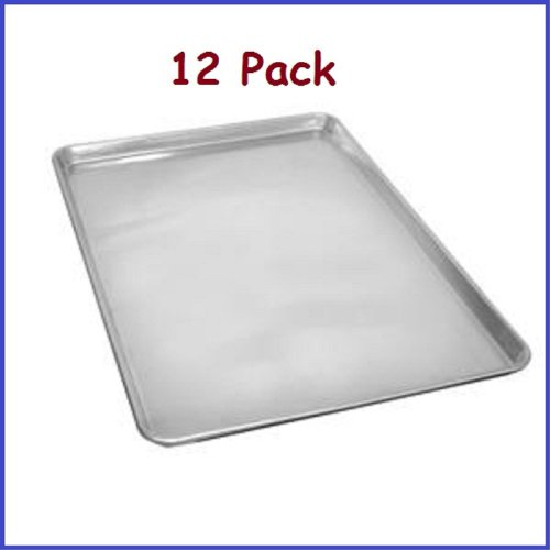 (12 Pcs.) Full Size Aluminum Sheet Pan 18