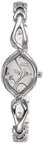 Titan Raga Analog White Dial Women's Watch – NE2455SM01