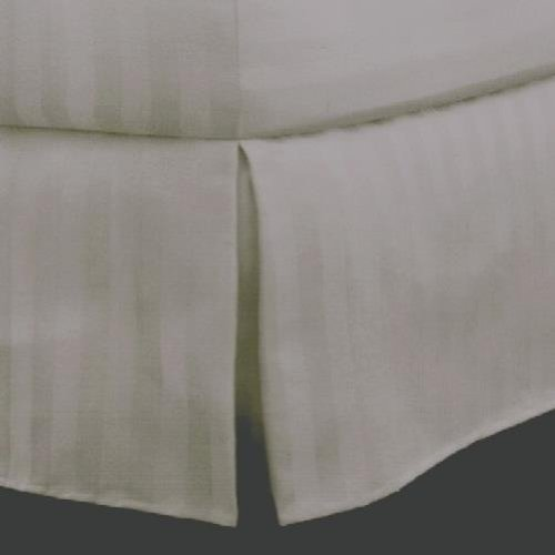 Charter Club Damask Stripe 500T Pima Cotton Taupe Twin Bedskirt (Collection By Charter Club Sheets compare prices)