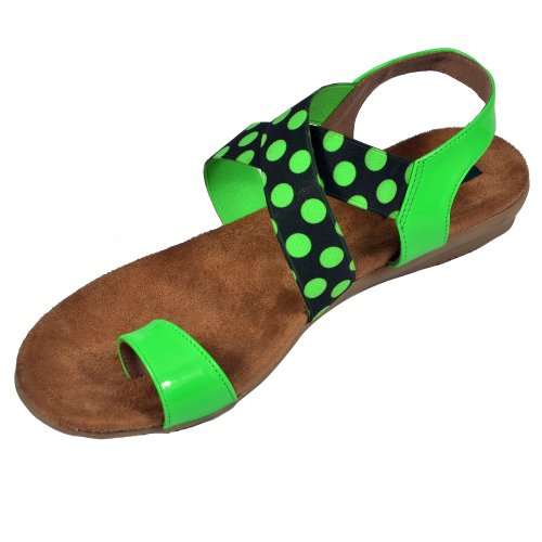 Delco Women Green Neon Summer Sandals Size 7