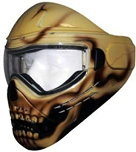 Save Phace Tagged Series Lazarus Hand Painted Tactical Mask with Brown Skull Graphic