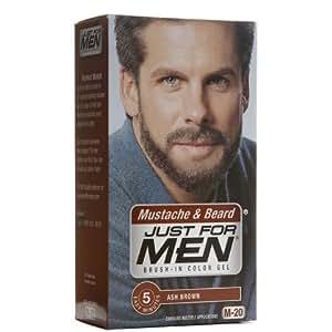buy just for men new true ash brown color formula kit for mustache beard and sideburns 4907 1. Black Bedroom Furniture Sets. Home Design Ideas