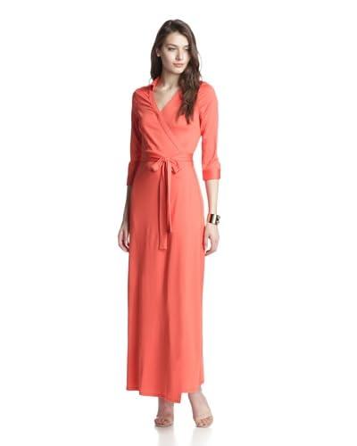 JB by Julie Brown Women's Jasper Maxi Wrap Dress  [Coral]