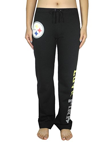 Womens Pink Victoria's Secret NFL Pittsburgh Steelers Pajama Pants M Black by NFL