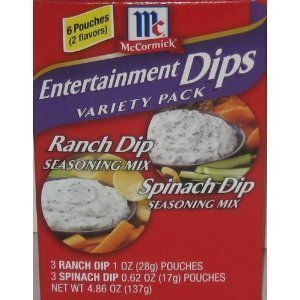 McCormick Entertainment Dips - 6 pk - Variety Kit