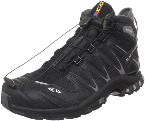 Salomon Men's XA PRO 3D MID GTX Trail Runner,Black/Black/Pewter,7 M US