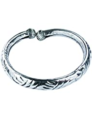 COLLANA RAJASTHANI LEG KARA (PAIR) IN ALLOY METAL WITH SILVER FINISH FOR GIRLS AND WOMEN ALL AGES