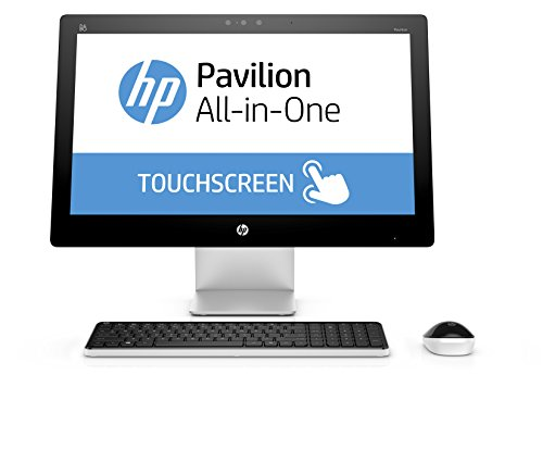 HP Pavilion 23-q106nl All-In-One, Windows 10, Processore Intel Core i3-4170T, RAM 4 GB DDR3L, HDD SATA da 1 TB, Schermo Touchscreen Retroilluminato a LED FHD 23