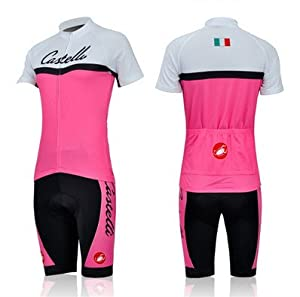 Castelli Women Cycling Jersey and Shorts Kits Ladies Cycling Clothing Pink Colors... by Castelli