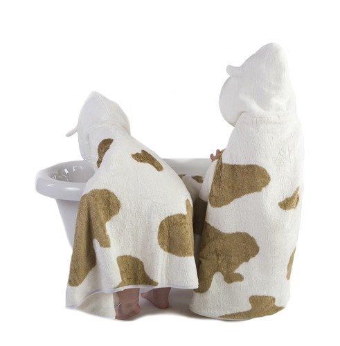 Cuddledry Cuddlemoo Organic Bamboo Toddler Hooded Towel - Cow Print