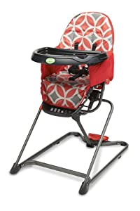 Quicksmart Easy Fold High Chair (Red)