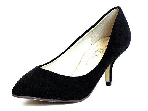 Donna scarpa décolleté nero, (schwarz) 62054 NEGRO