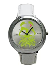 Svviss Bells Stylish Silver Green Dial Watch
