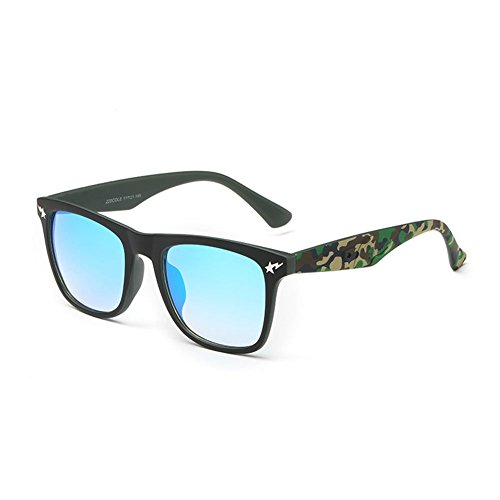 Gray Memory Lady Fashion Personality Big Frame Camouflage UV400
