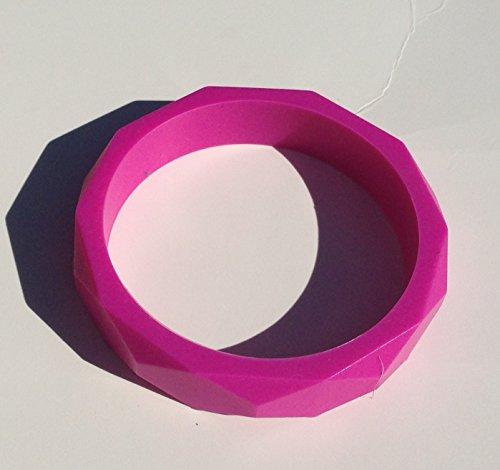 SillyMunk TM Silicone Teething Nursing Bracelets- Bangles (Pink) - 1