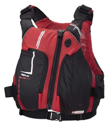 Soles Up Front-Xipe Buoyancy Aid 50N Replay-Giacca da Kayak Touring PDF per Kayak o Canoe. per pesca, colore: verde e rosso