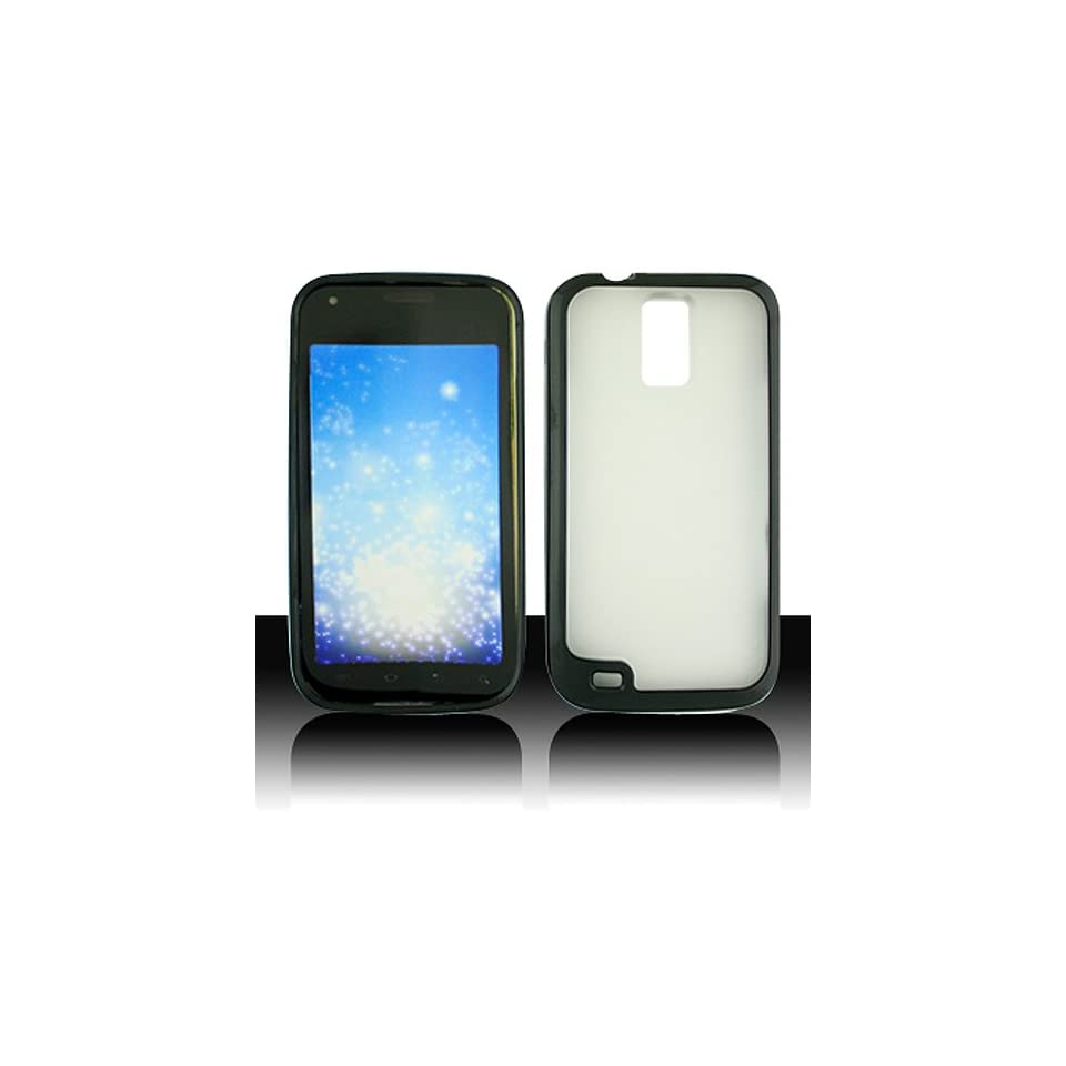 Frosted Clear Black Hard Cover Case for Samsung Galaxy S2 S II T Mobile T989 SGH T989 Hercules Cell Phones & Accessories