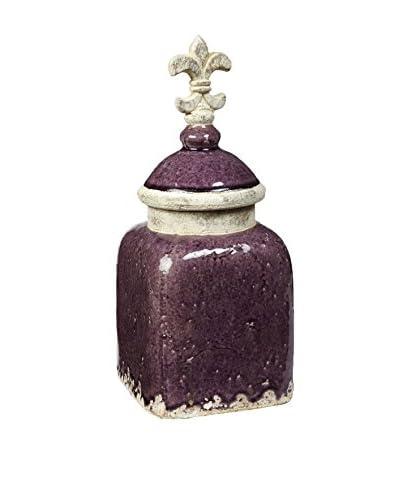 Napa Home and Garden Florentina Canister Medium Aubergine, Purple