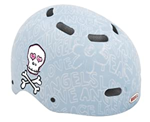 Bell Child Bike Candy Blue Skulls Multi-Sport Helmet (Blue, fits head size 20 - 20-1/4)