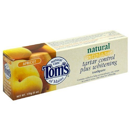 Tom'S Of Maine Natural Care Toothpaste, Natural, Antiplaque, Tartar Control Plus Whitening, Apricot, 6 Oz (170 G) (Pack Of 6)