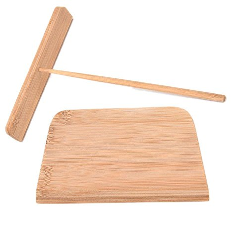 Find Cheap 2 Pcs Crepe and Pancake Batter Spreader Made of Bamboo Kitchen Tool Kit By Crqes