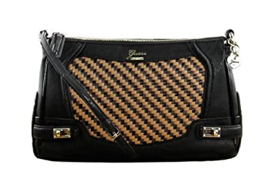 Guess Dizzy Crossbody Top Zip Bag Black Multi: Amazon.co.uk: Shoes ...