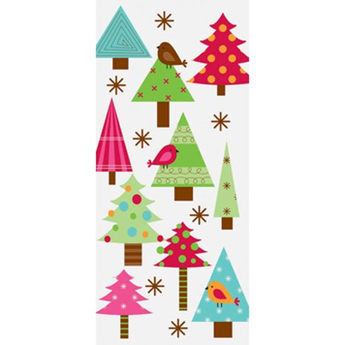 The Gift Wrap Company 8 Count Cellophane Treat Bags, Festive Forest, Multicolor