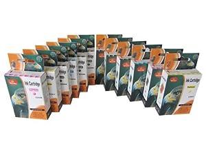 12 cartouches d'encre compatibles pour Canon Pixma ip4850 ip4950 mg5100 mg5150 mg5200 mg5250 mg5300 mg5350 MG6100 MG6150 MG6200 MG6250 MG8100 MG8150 MG8200 MG8250 MG 5100 5150 5200 5250 5300 5350 6100 6150 6200 6250 8100 8150 8200 8250 (compatibles pour PGI-525BK CLI-526BK CLI-526C CLI-526M CLI-526Y , AVEC PUCE)