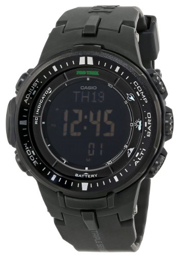 Casio Men's PRW-3000-1ACR Protrek Digital Display Japanese Quartz Black Watch