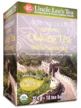 Whole Leaf, Organic Ginseng Oolong Tea-18 Bags Brand: Uncle Lees Tea