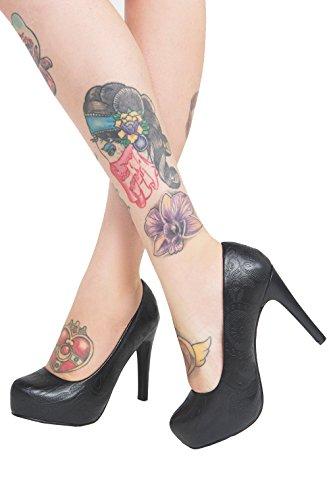 Iron Fist - Scarpe con Tacco donna , nero (Black), 39