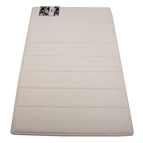 Hiwel Microfiber Bath Mat / Bath Rug With Memory Foam Absorbant & Comfortable, Multi-Functional Household Complement, Ivory, 21*34 Inch front-271173