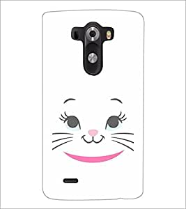 PrintDhaba Kitty Face D-2284 Back Case Cover for LG G3 (Multi-Coloured)