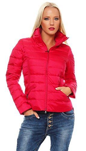 Giacca invernale da donna Bosideng portatiòli piumino trapuntato rosso XX-Large
