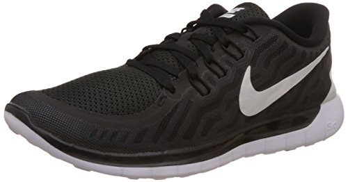 Nike Free 5.0 Zapatillas de running, Hombre, Negro (black/white-dark grey-cl grey 002), EU 40 (US