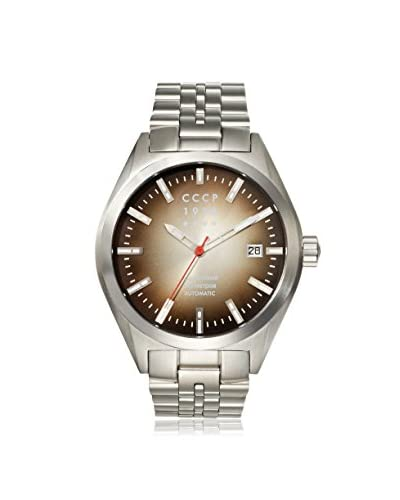 CCCP Men's 7012-11 Shchuka Silver/Black Stainless Steel Watch