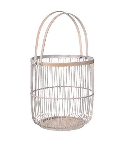 Concept Luxe witte container voor keuken helpers Bamboo