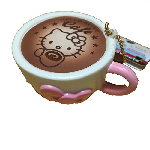 Sanrio Hello Kitty Lovely Sweets Latte Art White Squishy