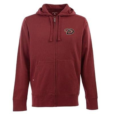 Antigua Men's Arizona Diamondbacks Fleece Full-Zip Hooded Sweatshirt
