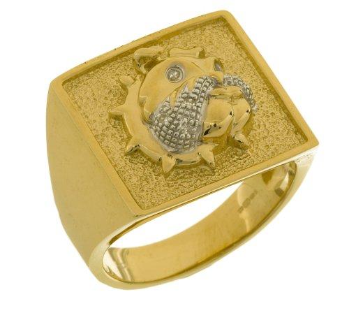 9ct Yellow Gold Men's Diamond Ring Size N