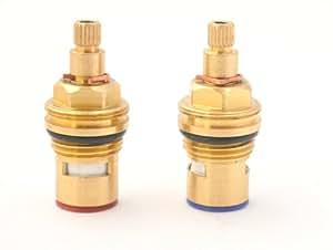 Replacement Brass Ceramic stem Disc cartridge Faucet Valve Quarter
