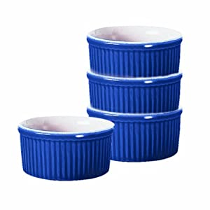 Emile Henry 6-Ounce Ramekin, Set of 4, Azure Blue