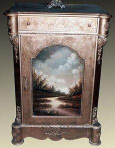 Armario barroco estilo envejecido, MoGl0640huelga de oro