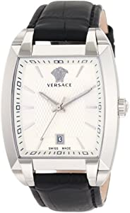 Versace Men's WLQ99D002 S009 Character Tonneau White Dial Watch