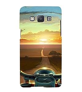 PrintVisa Travel Bike Road Design 3D Hard Polycarbonate Designer Back Case Cover for Samsung Galaxy A7
