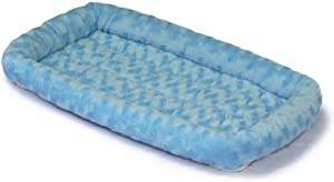 Midwest Quiet Time Fashion Pet Bed, Powder Blue, 24 x 18